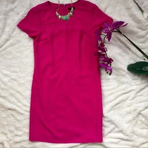 ANN TAYLOR HOT PINK SHIFT DRESS!